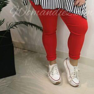 Pantalon elastic Rojo