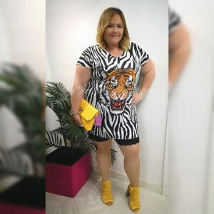 Vestido Zebra Never