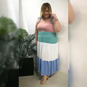 Vestido tricolor  dulce