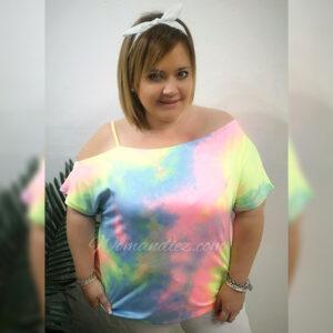 Camiseta asimétrica pinball