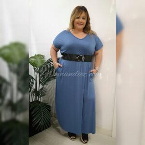 Vestido Básico Azul Vaquero