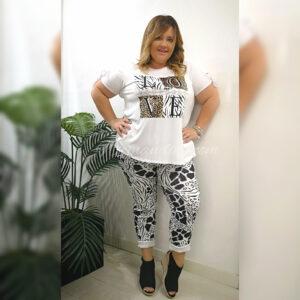 Pantalon Black and white