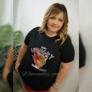 Camiseta Hungry Negra