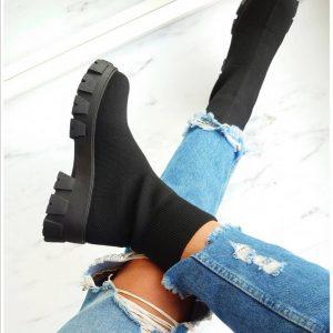 Botas Calcetín Negras